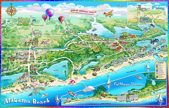 Maria Rabinky - Alabama Beach Illustrated Map