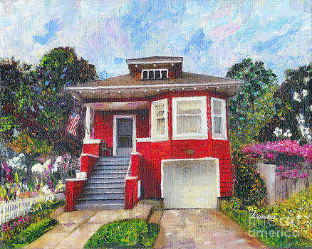 Colonial Revival High Basement Cottage 1907  by Linda Weinstock