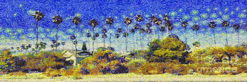 Alameda Famous Burbank Palm Trees by Linda Weinstock