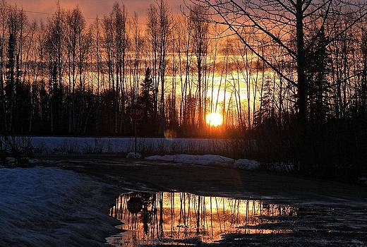 Alaska Breakup Sunset by Donna Quante