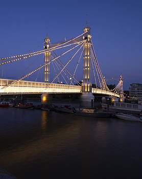 David French - Albert Bridge London Thames at night