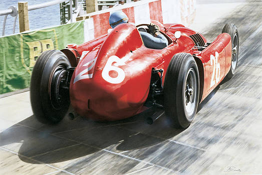Alberto Ascari - Lancia D50 - Montecarlo 1955 by Alberto Ponno