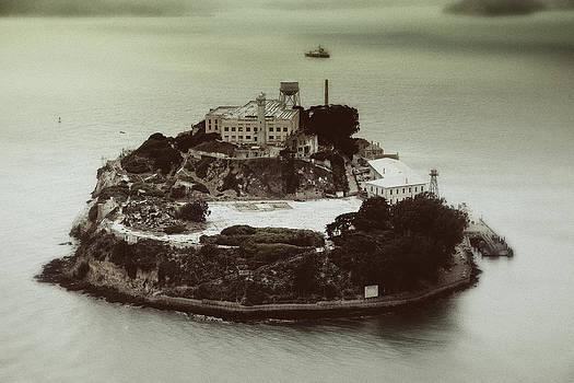 Alcatraz Vintage Arial View 1. by Laszlo Rekasi