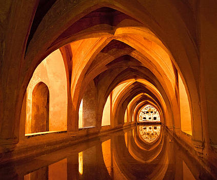 Alcazar Cave Galleries Seville by Viacheslav Savitskiy