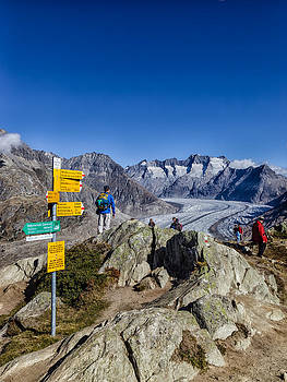 Charles Lupica - Aletsch Glacier as seen from Moosfluh