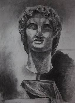 Alexander the Great En face by Annamaria Shkurti