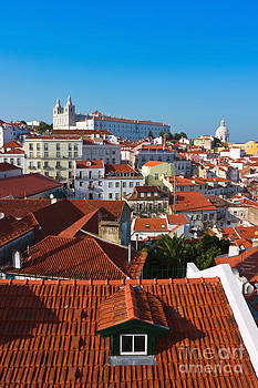 Alfama District in Lisbon with Monastery of Sao Vicente de Fora by Kiril Stanchev