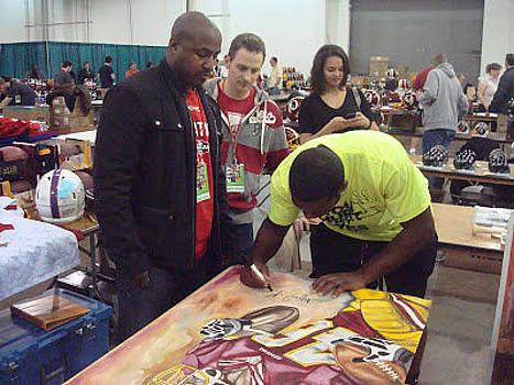 Alfred Morris Signing by Lynde Washington