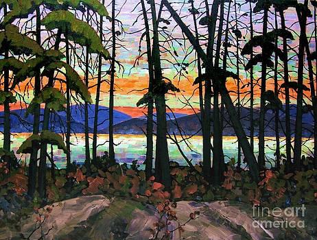 Algoma Sunset Acrylic on Canvas by Michael Swanson