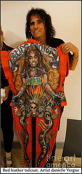 Alice cooper airbrushed leather tailcoat by Danielle Vergne