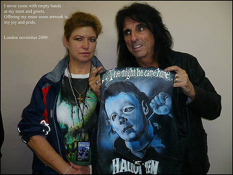 Alice cooper and me in london by Danielle Vergne