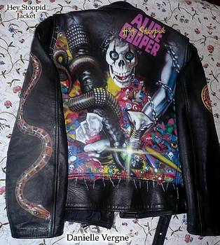 Alice Cooper Hey Stoopid leather jacket by Danielle Vergne by Danielle Vergne