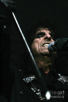 Alice Cooper Print One by Christopher  Chouinard