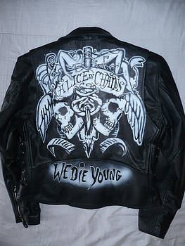 Alice in Chains leather jacket by Danielle Vergne