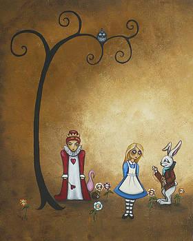 Alice in Wonderland Art - Encore - I by Charlene Zatloukal