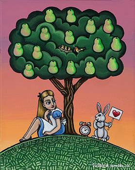 Alice in Wonderland art by Victoria De Almeida
