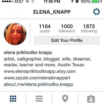 All 1000 You #followers Thank You For by Elena Prikhodko knapp