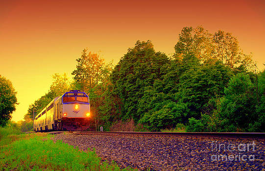 All Aboard Sunset Trains And Journey's by Jack  Martin
