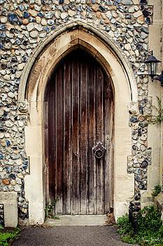 All Saints Church Door by Karen Varnas