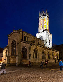 All Saints Pavement at night by Paul Cowan