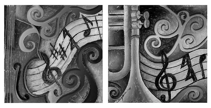 All that Jazz 2 black and white by Stacy V McClain