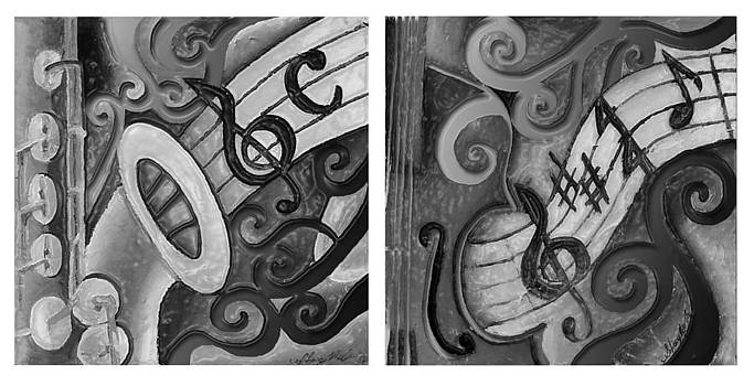 All that Jazz 2 together 3 black and white by Stacy V McClain