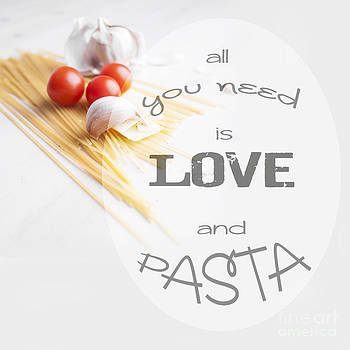 Sophie McAulay - All you need is pasta typographic design