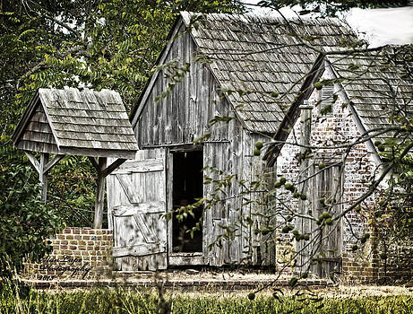 Allee Outhouses and Well by Stanley Lupo