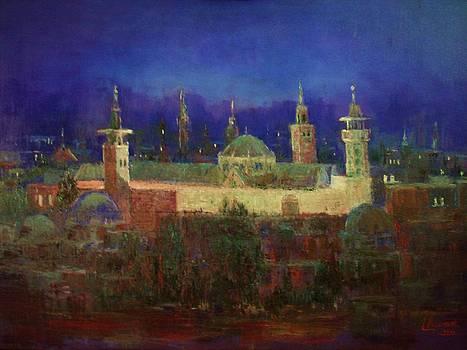 Almasjed Alamawe at Night - Damascus - Syria by Laila Awad Jamaleldin