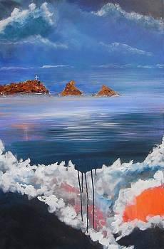 Almunecar Rocks by Lynne Bishop