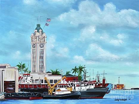 Aloha Tower by Larry Geyrozaga
