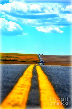 Alone on the road by Tina Hannaford