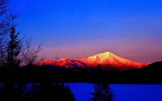 Alpenglow-Whiteface Mt. by Frank Houck