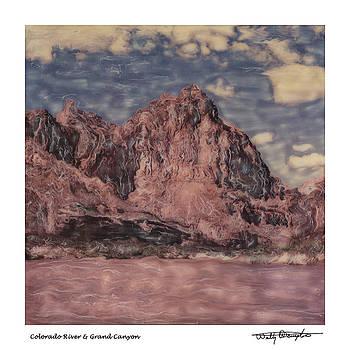 Altered Polaoid - Colorado River And Grand Canyon 2 by Wally Hampton