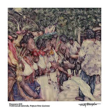 Altered Polaroid - Dancers 29 - Trobriand Islands - Papua New Guinea by Wally Hampton