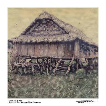 Altered Polaroid - Dwelling 26 - Sepik River - Papua New Guinea by Wally Hampton