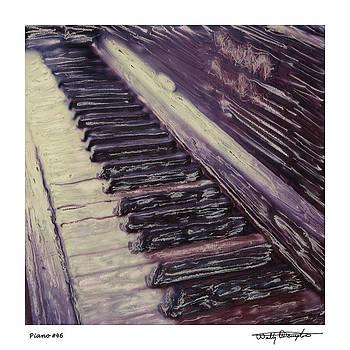 Altered Polaroid - Piano Keyboard by Wally Hampton