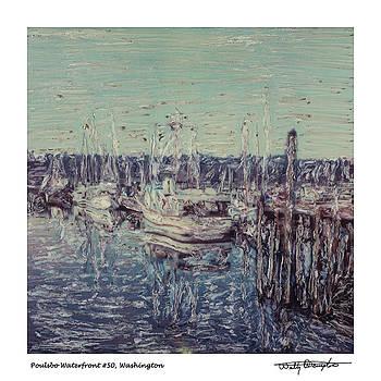 Altered Polaroid - Poulsbo Waterfront 50 by Wally Hampton