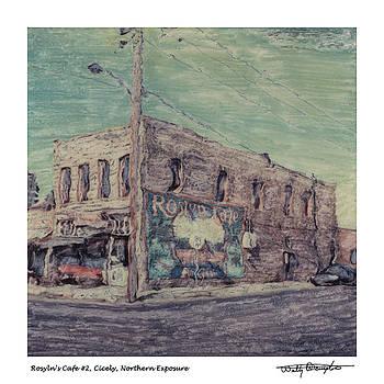 Altered Polaroid - Roslyns Cafe 2 by Wally Hampton
