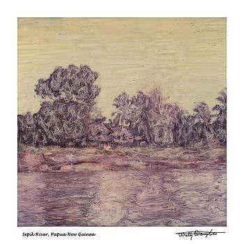 Altered Polaroid - Sepik River 37 - Papua New Guinea by Wally Hampton