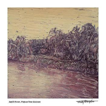 Altered Polaroid - Sepik River 5 - Papua New Guinea by Wally Hampton
