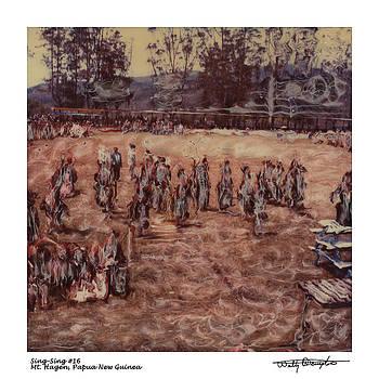 Altered Polaroid - Sing Sing 16 - Mt Hagen - Papua New Guinea by Wally Hampton