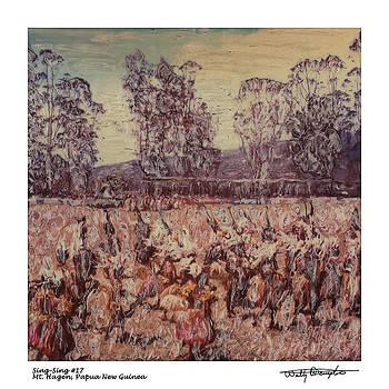 Altered Polaroid - Sing Sing 17 - Mt Hagen - Papua New Guinea by Wally Hampton