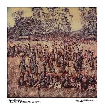 Altered Polaroid - Sing Sing 18 - Mt Hagen - Papua New Guinea by Wally Hampton