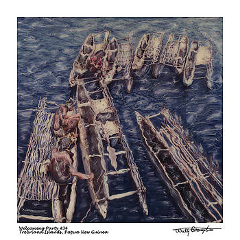 Altered Polaroid - Welcoming Party 34 - Trobriand Islands - Papua New Guinea by Wally Hampton