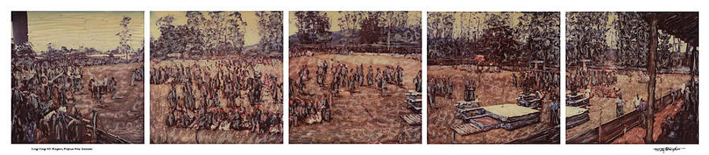 Altered Polaroids - Sing Sing Composite - Mt Hagen - Papua New Guinea by Wally Hampton