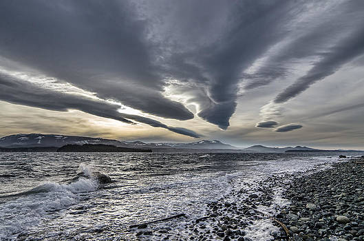 Altocumulous Standing Lenticular Clouds by Darryl Luscombe