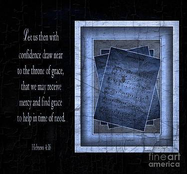 Amazing Grace in Blue with Scripture by Julie Dant