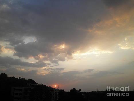 Amazing Sundown  by Artist Nandika  Dutt