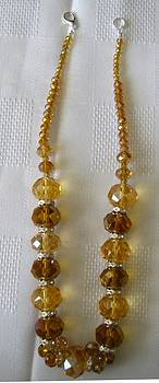 Amber Crystal Handmade Necklace by Fatima Pardhan